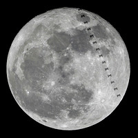 Lunar transit of the International Space Station - 12-03-17 @ 23:50:40 hrs.