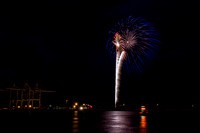 Port Canaveral Fireworks - July 3, 2014